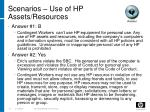 scenarios use of hp assets resources16