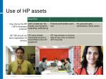 use of hp assets