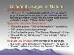 different usages of nature