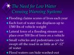 the need for low water crossing warning systems
