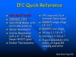 ifc quick reference