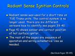 radiant sense ignition controls