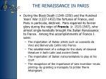 the renaissance in paris