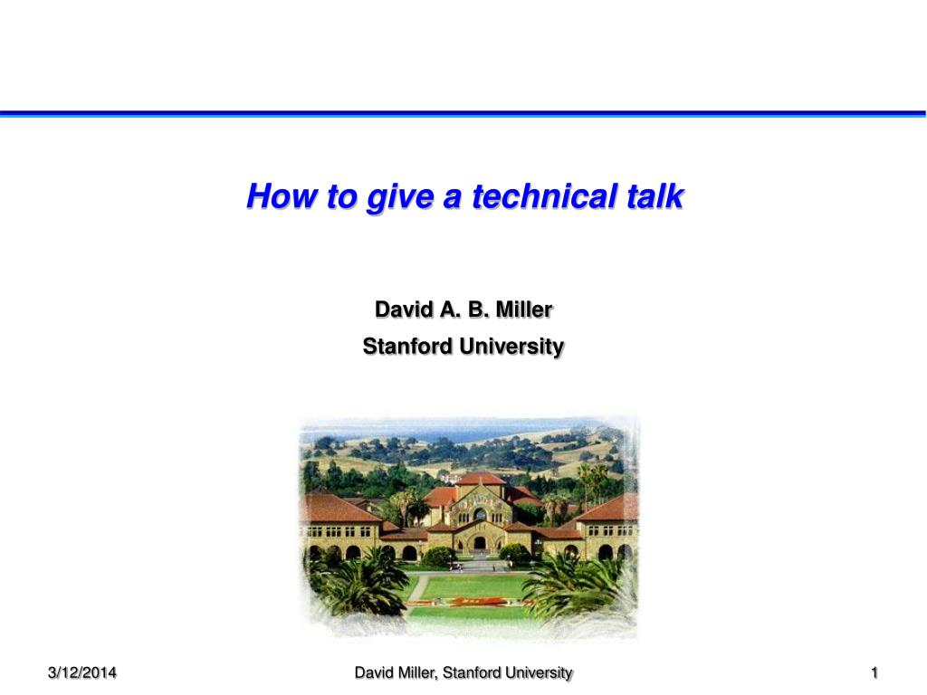 how to give a technical talk l.