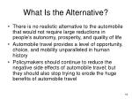 what is the alternative