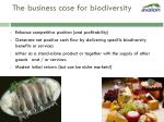 the business case for biodiversity