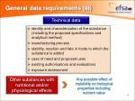 general data requirements iii