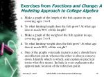 exercises from functions and change a modeling approach to college algebra15