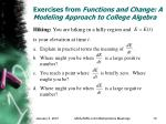 exercises from functions and change a modeling approach to college algebra16