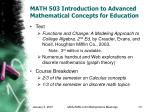 math 503 introduction to advanced mathematical concepts for education13