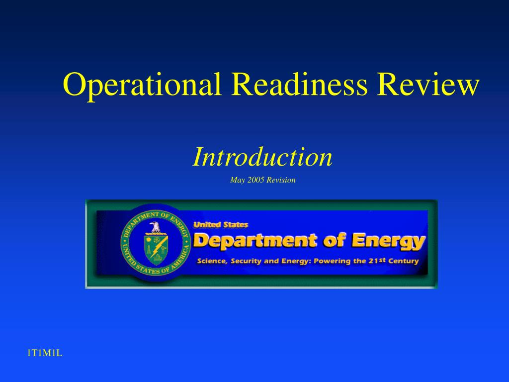 operational readiness review l.