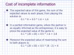 cost of incomplete information