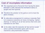 cost of incomplete information37