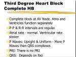 third degree heart block complete hb