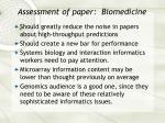 assessment of paper biomedicine39
