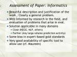 assessment of paper informatics37