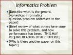 informatics problem