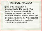 methods employed