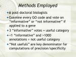 methods employed27