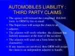 automobiles liability third party claims