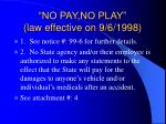 no pay no play law effective on 9 6 1998