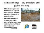 climate change co2 emissions and global warming