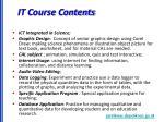 it course contents
