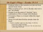 on eagle s wings exodus 19 1 8