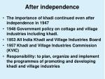 after independence