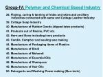 group iv polymer and chemical based industry