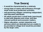 true swaraj