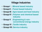 village industries