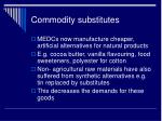 commodity substitutes
