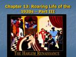 chapter 13 roaring life of the 1920s part iii