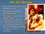 the 20 s woman
