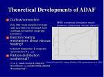 theoretical developments of adaf