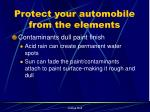 protect your automobile from the elements