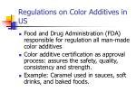regulations on color additives in us