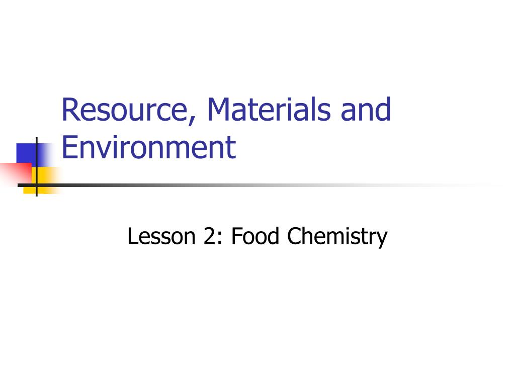resource materials and environment l.