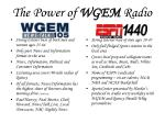 the power of wgem radio