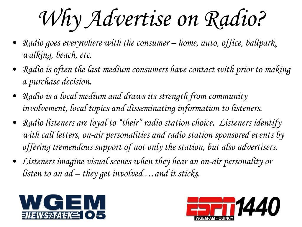 Why Advertise on Radio?