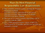 ways to meet financial responsibility law requirements