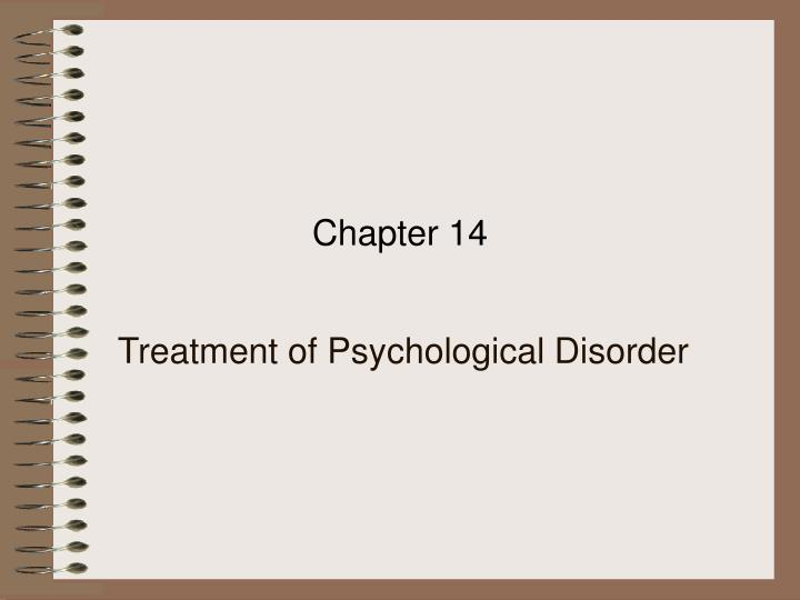 treatment of psychological disorder n.