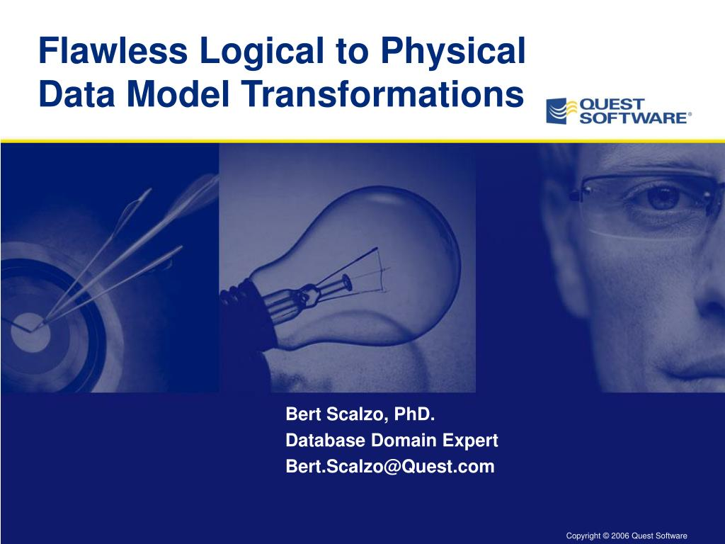 flawless logical to physical data model transformations l.