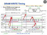 dram write timing