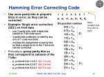 hamming error correcting code