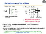 limitations on clock rate