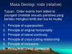 masa geologi nisbi relative