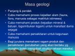 masa geologi