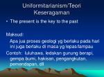 uniformitarianism teori keseragaman